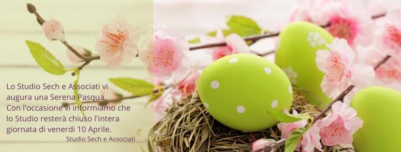 Auguri Buona Pasqua e orari studio